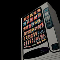 3d model vending machine pzvending