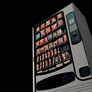 3d model vending machine pzvending