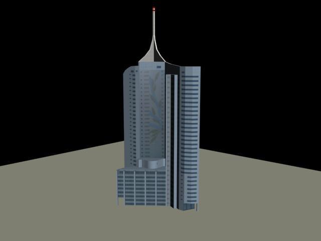 3d rise office building
