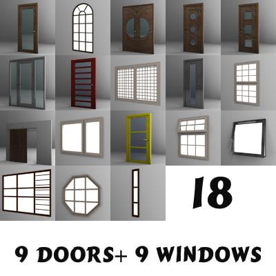 3d model windows doors
