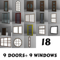 3d model windows doors