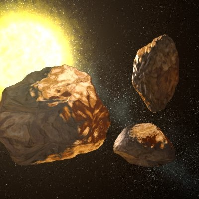 3d vulcanoid asteroids