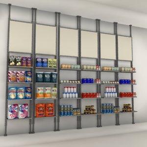 wall merchandising shelves max