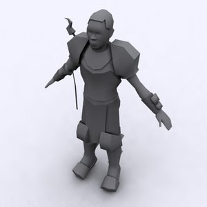 3d african warrior games polygons