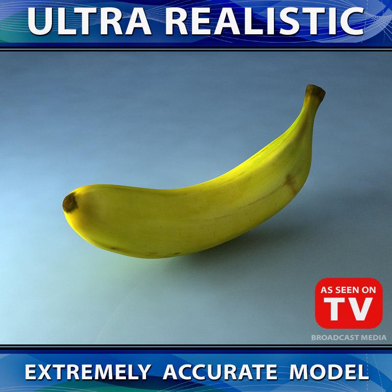 3d max banana fruit