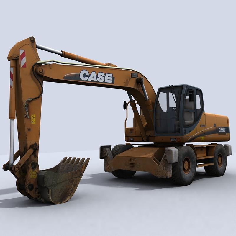 3d model excavator 2