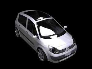 renault scenic ii 3d model