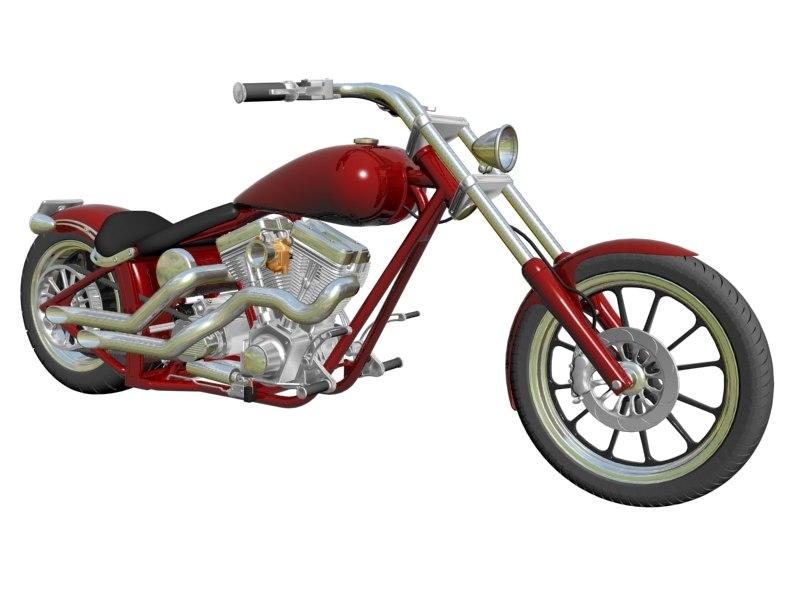 custom motorcycle 3d max