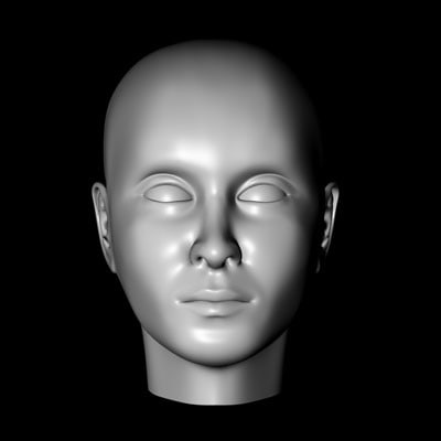 human female head reference 3d model