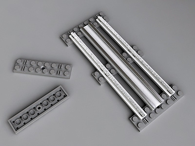 lego 5 inches straight 3d model
