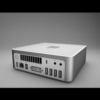 apple mac mini 3d dxf