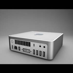 apple mac mini 3d dxf