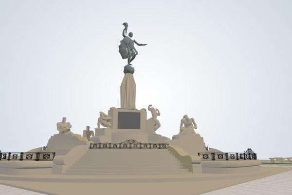 3ds max plaza trujillo