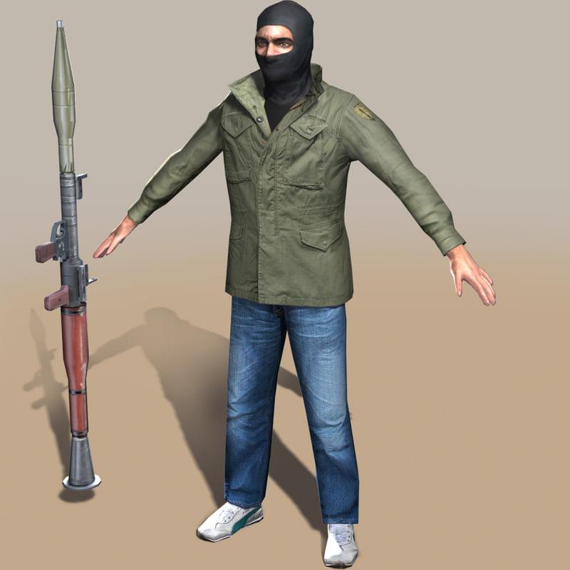 rebel arab 3d model