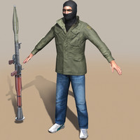 rebel arab 3d model