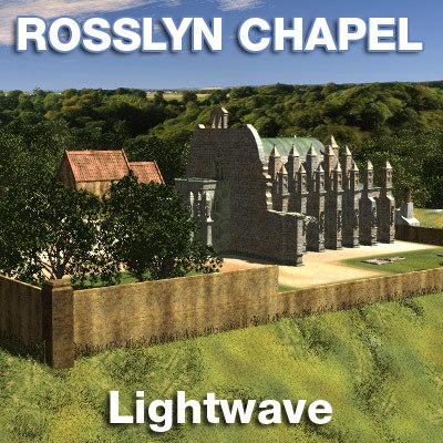 rosslyn chapel trees grass lwo