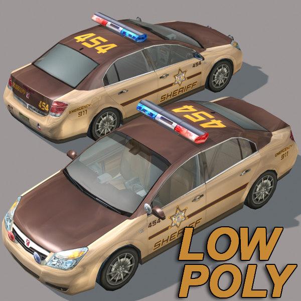 3ds car wheel police