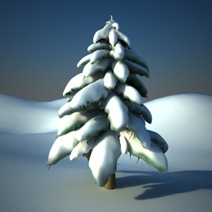 3d snow tree model