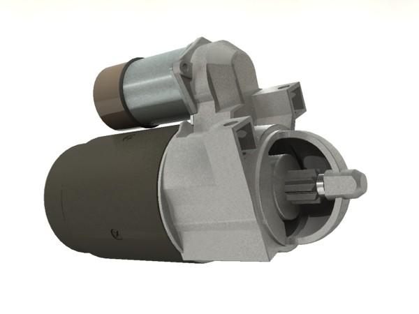 starter motor 3d max