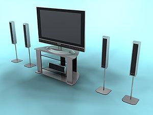 3ds max tv speakers