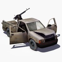 3d model 4x4 pickup truck technical