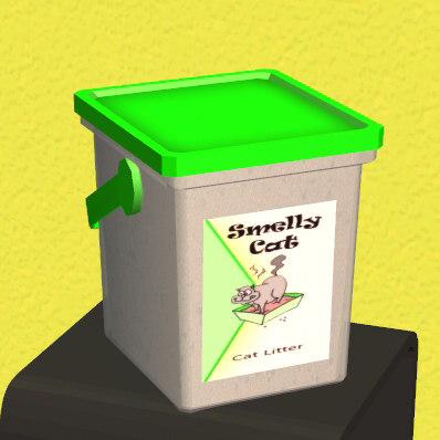 3d cat litter container