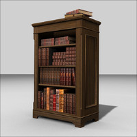 traditional bookcase books example blend