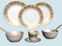 Melamine Dining Set 01