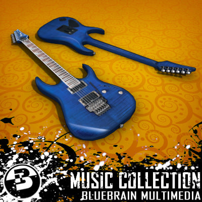 electric guitar 3ds
