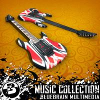 electric guitar 3d 3ds