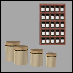 canister rack kitchen pzcnstsprk 3d pz3