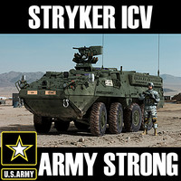 US Army M1126 Stryker ICV (with detailed interior) MAX 3DS