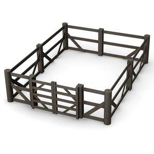 3d 3ds fence gate