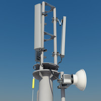 Cellular monopole antenna mast 15m populated