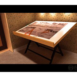 3d drawing table mrsam model