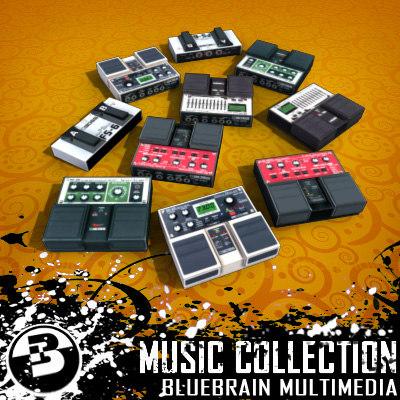3d model guitar fx pedals