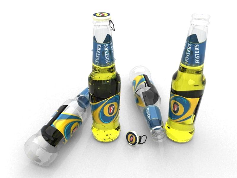 3d model fosters beer