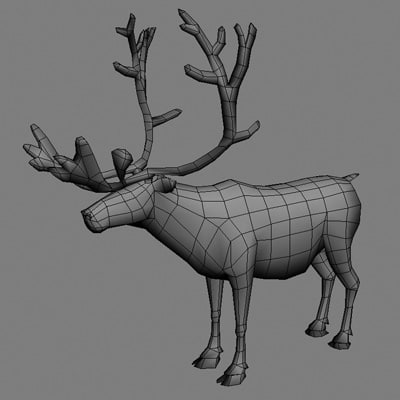 3d model reindeer real time