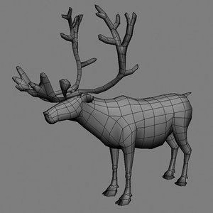 3d model reindeer real time