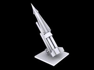 3d nike rocket launcher missile