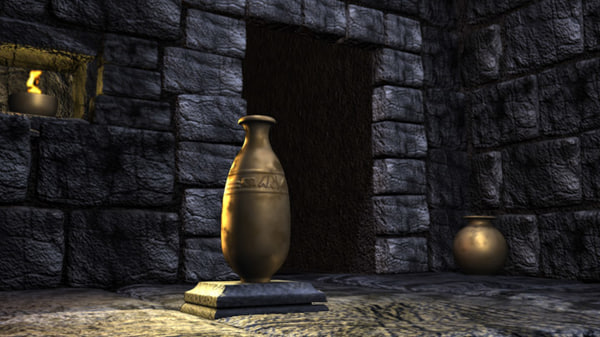 tomb cave environment background 3d obj