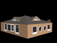 single story home building 3d max