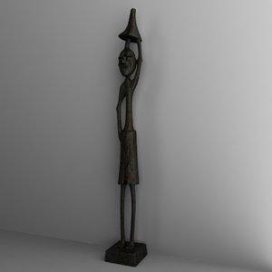 maya statuette african