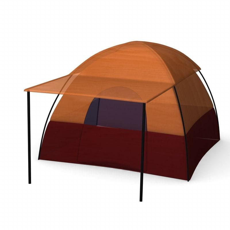 3d model camping tent
