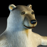 3d polar bear tomby