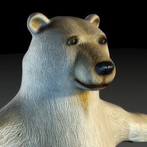 3d polar bear tomby