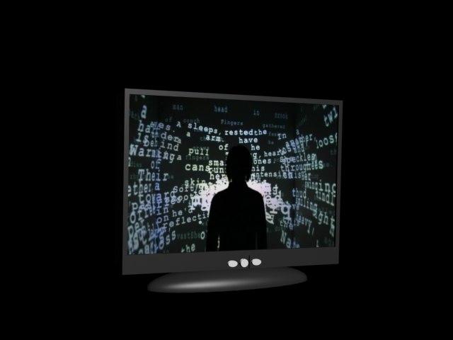free black tv 3d model