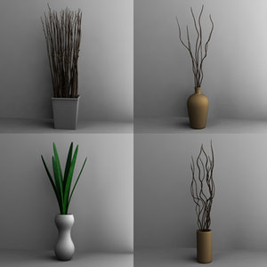 vases decoration 3ds