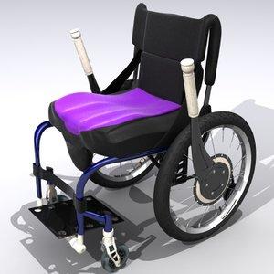 3d model of wheel chair