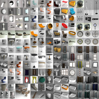 3d visualizations bathroom toilets bidets